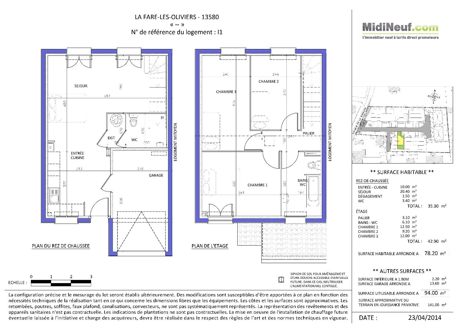 annonce villa 4 pieces la fare les oliviers vente. Black Bedroom Furniture Sets. Home Design Ideas